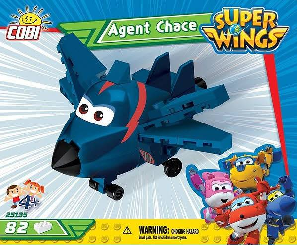 Agent Chase Super Wings 80 Teile 25135