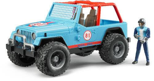 Jeep Cross Country racer blau mit Renn 02541