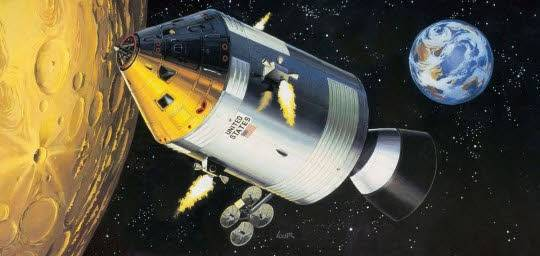 REVELL Apollo 11 Spacecraft with Interi 1:32 03703