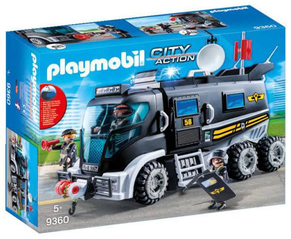 City Action SEK-Truck mit Licht und Sound 9360